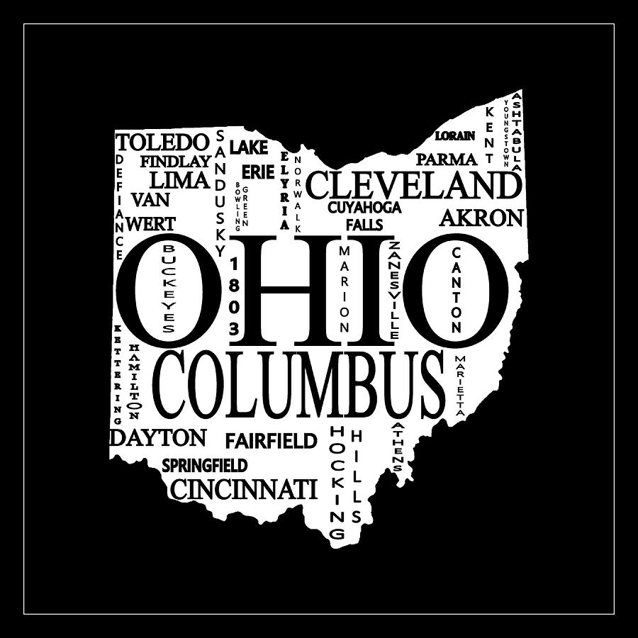 Ohio City Typography Map by Dan Sproul