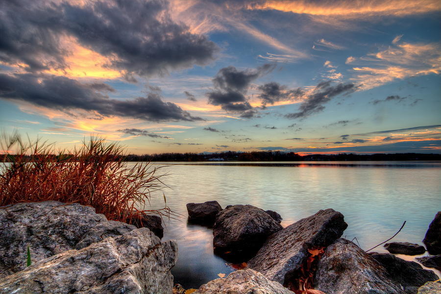 Ohio Photograph - Ohio Fall Sunset by David Dufresne