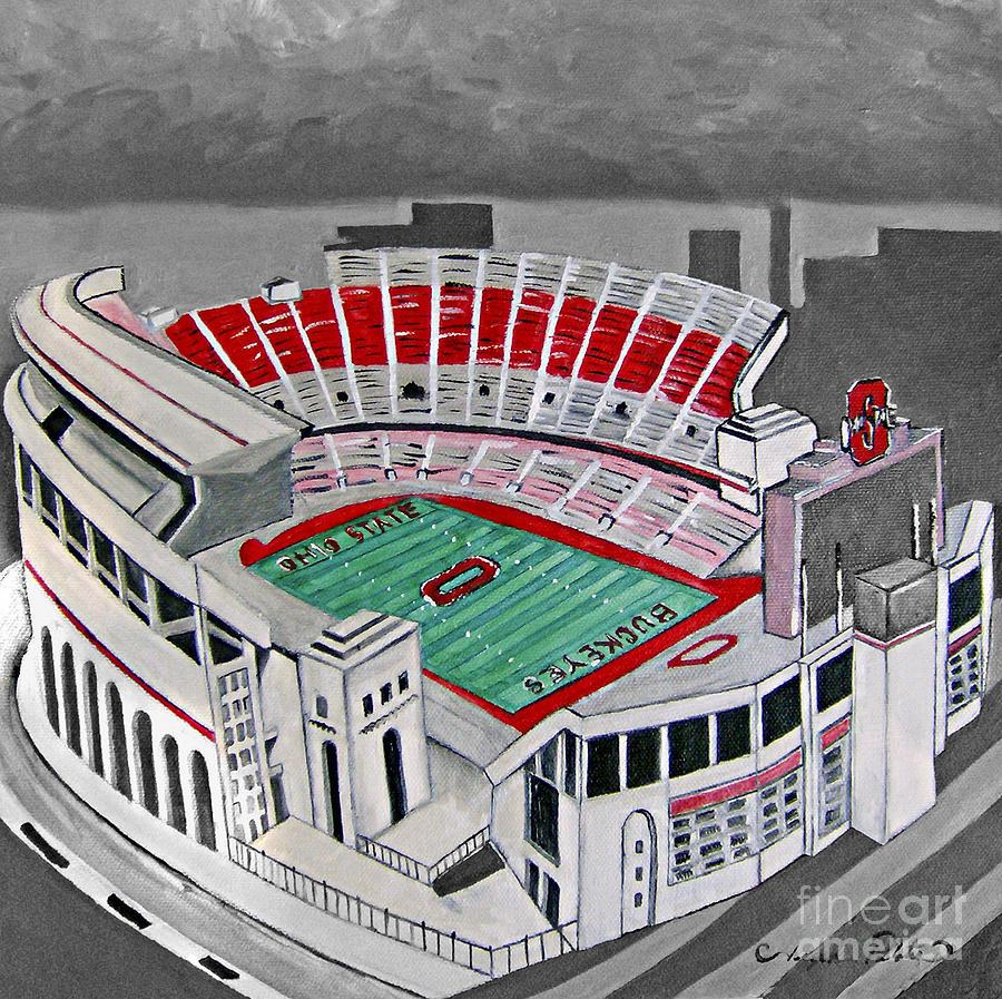 Ohio State Stadium Painting - O.h.i.o Ohio State Stadium by Joseph Palotas