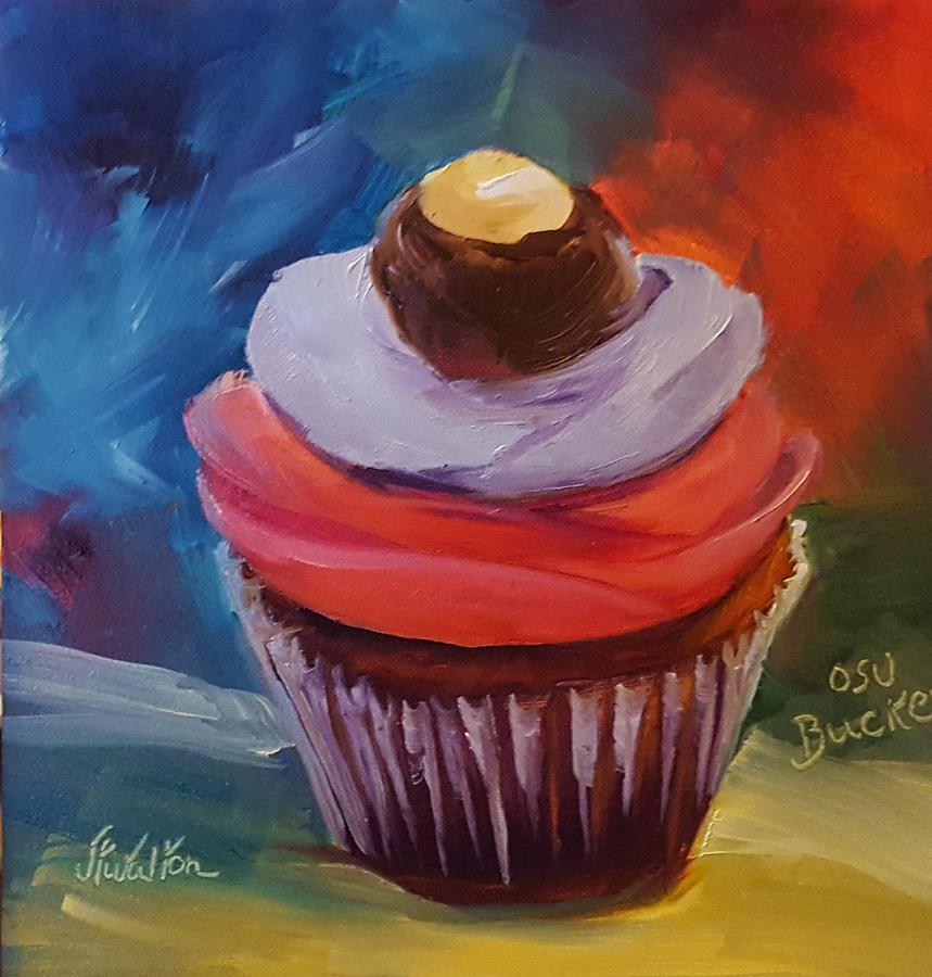 Ohio State Buckeye Cupcake by Judy Fischer Walton