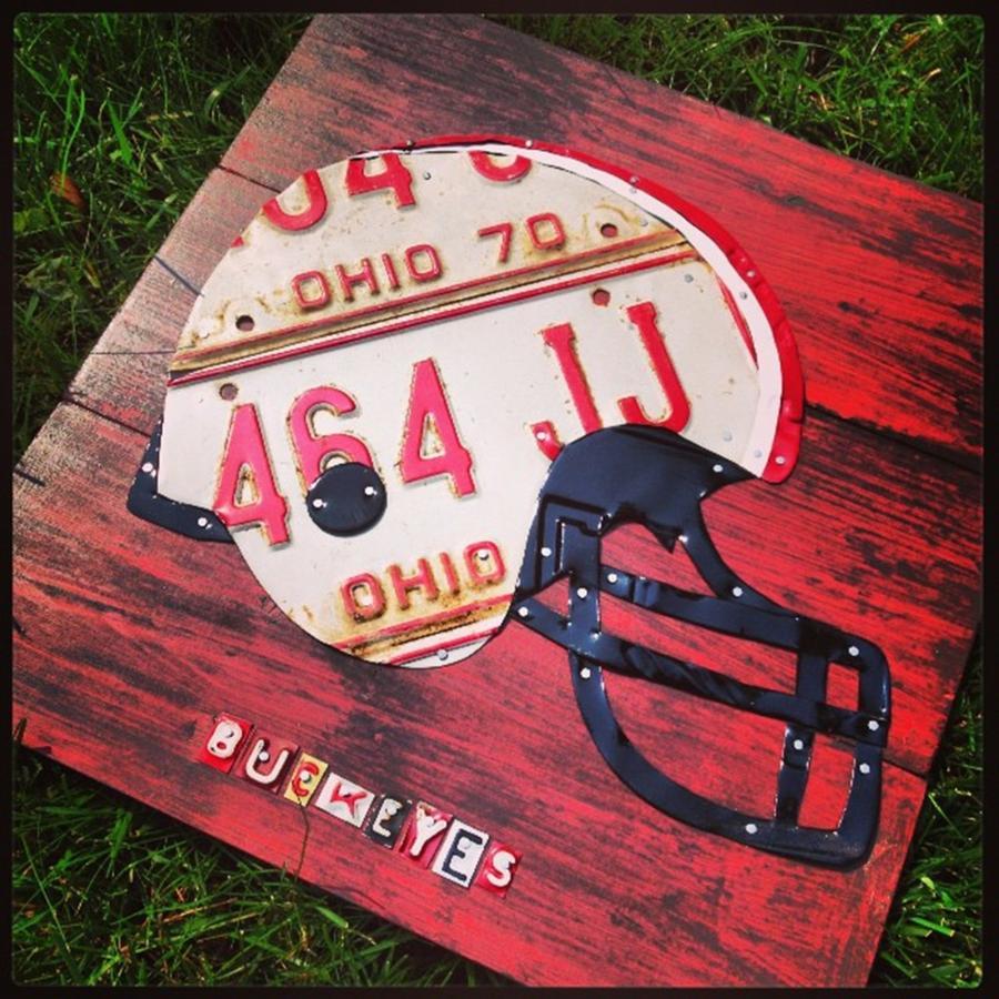 Football Photograph - Ohio State #buckeyes #football Helmet - by Design Turnpike