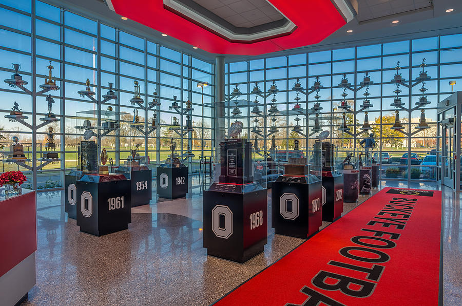 Ohio State Football Trophy Collection Photograph By Scott McGuire