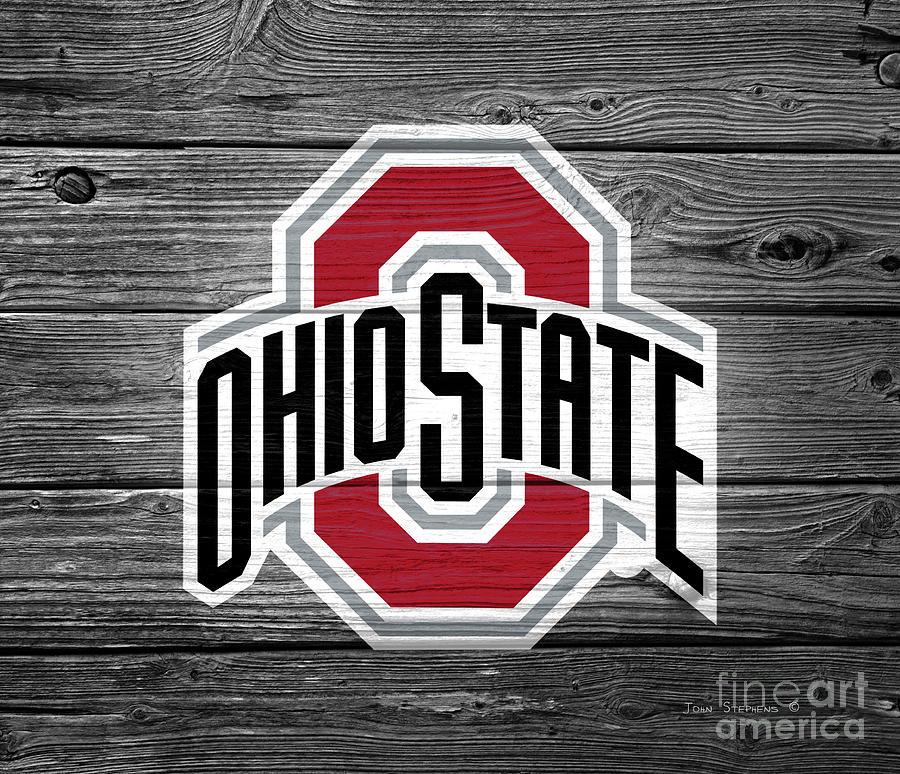 Ohio State University Buckeyes Logo On Weathered Wood ...