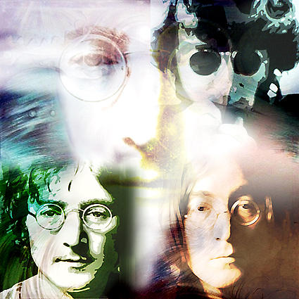 Painting Mixed Media - Oh...lennon by Toto Nugroho