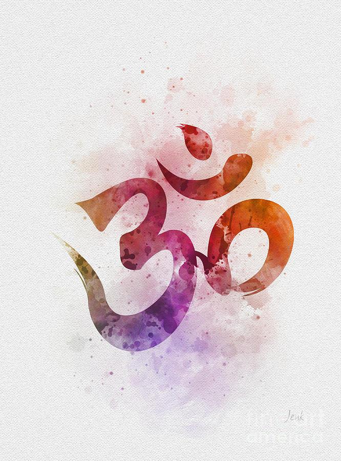 Ohm Symbol Mixed Media By Rebecca Jenkins