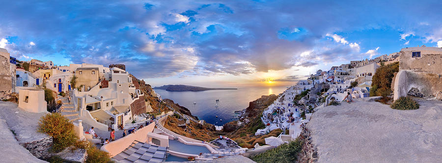 Santorini Photograph - Oia Sunset by Milos Novakovic