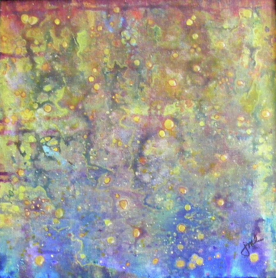 Abstract Painting - Oil And Water by Jean LeBaron