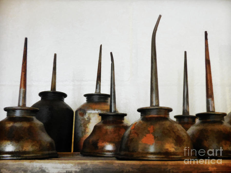 Rust Photograph - Oil Can, Rusted by Laura Atkinson