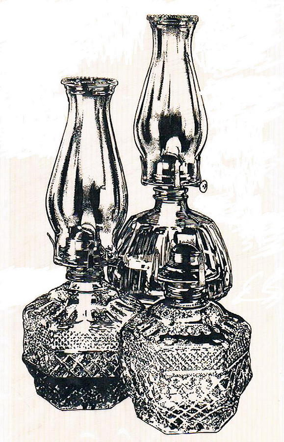 Oil Lamps Drawing By Barbara Keith