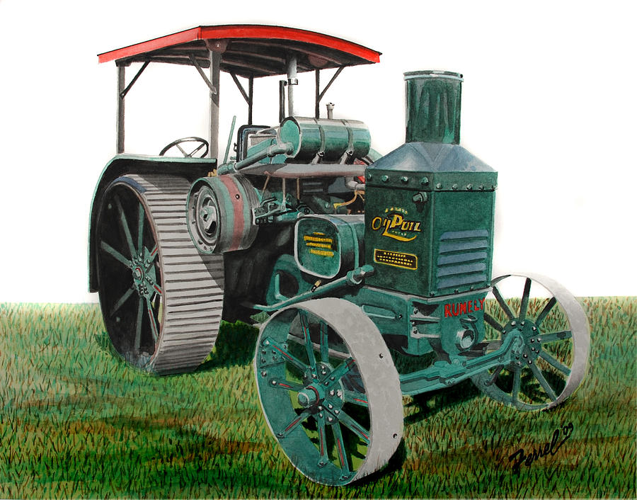 Oil Pull Painting - Oil Pull Tractor by Ferrel Cordle