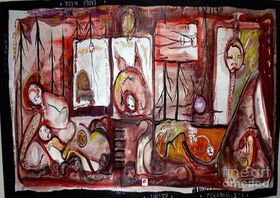 Figure Painting - Oil Spill by Carol Rashawnna Williams