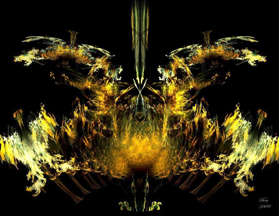 Oiseau Digital Art - Oiseau De Feu by Dom Creations