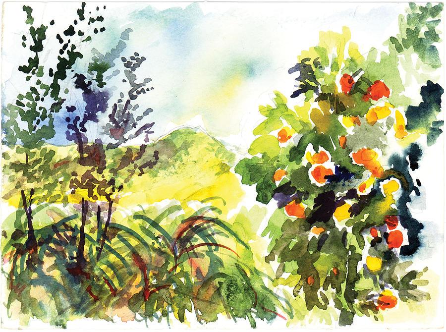 Ojai Painting - Ojai Oranges by Lily Hymen