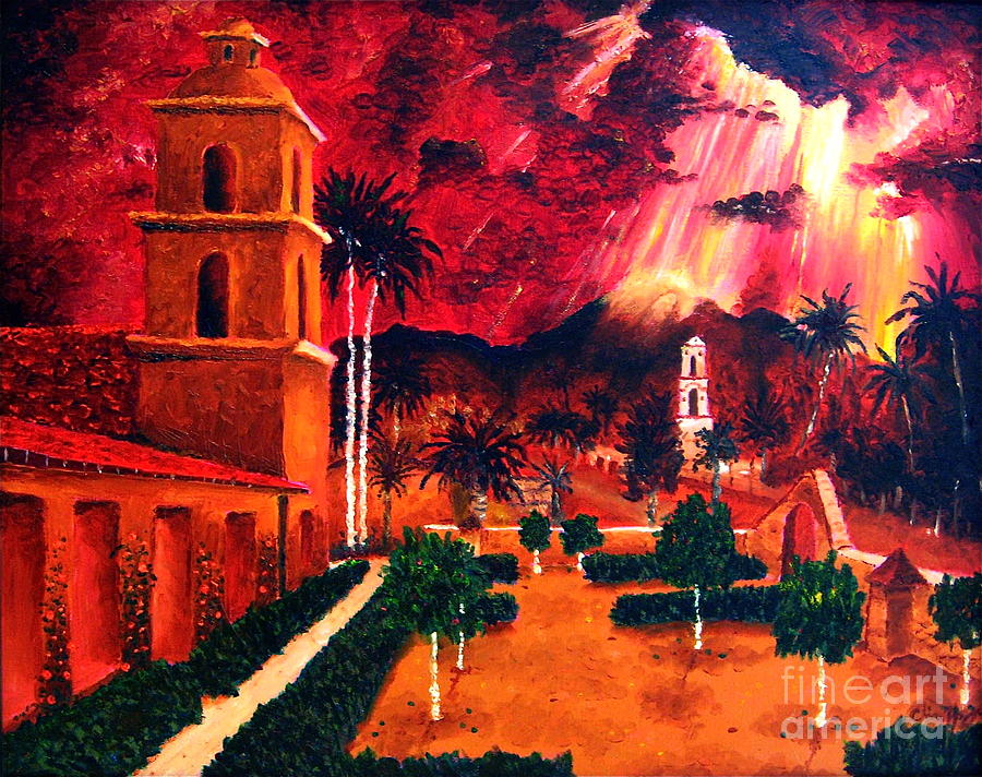 Cityscape Painting - Ojai Red I by Chris Haugen