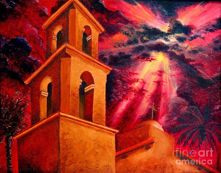 Cityscape Painting - Ojai Red II by Chris Haugen