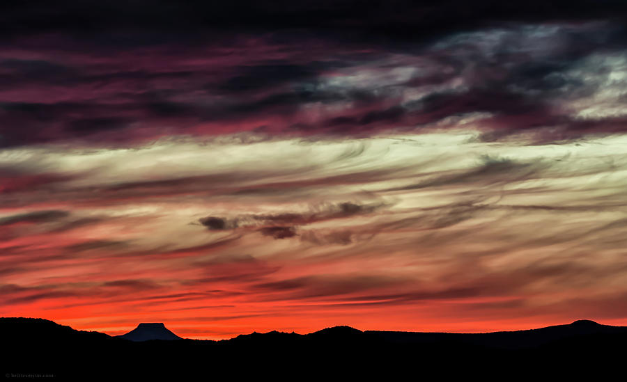 Sunset Photograph - Ojo Caliente Sunset by Britt Runyon