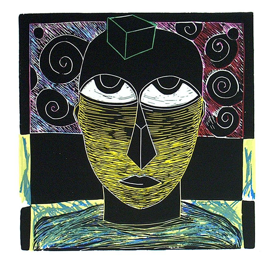 Serigraph Print - Ojos Al Cubo by Carlos Torralba