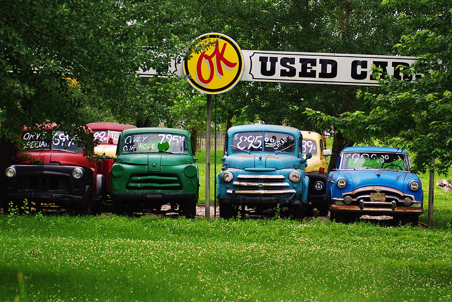 Ok Used Cars Photograph by Wade Buzanko