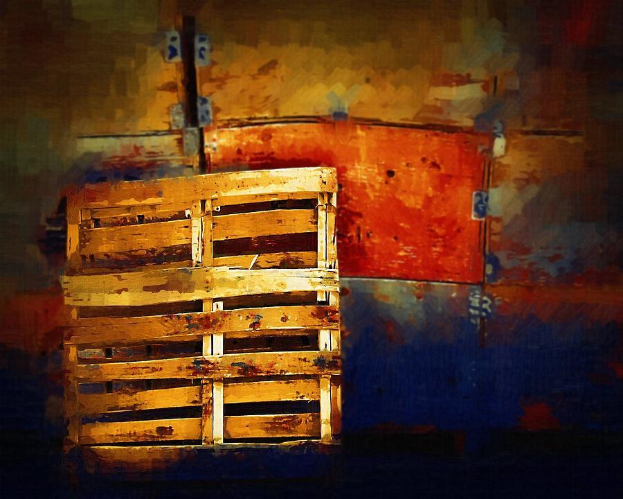 Pallet Photograph - Okanagan Pallet by Bill Kellett