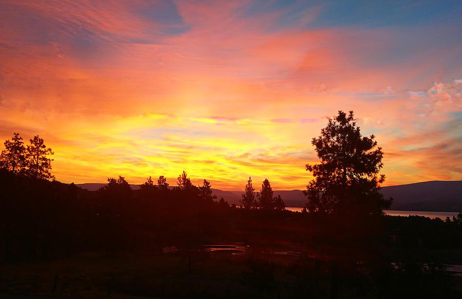 Okanagan Sunrise At Kelowna by Max DeBeeson