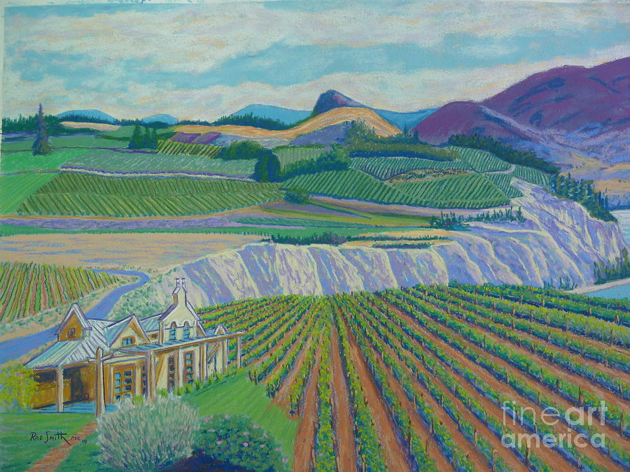 Pastels Pastel - Okanagan Valley by Rae  Smith PSC