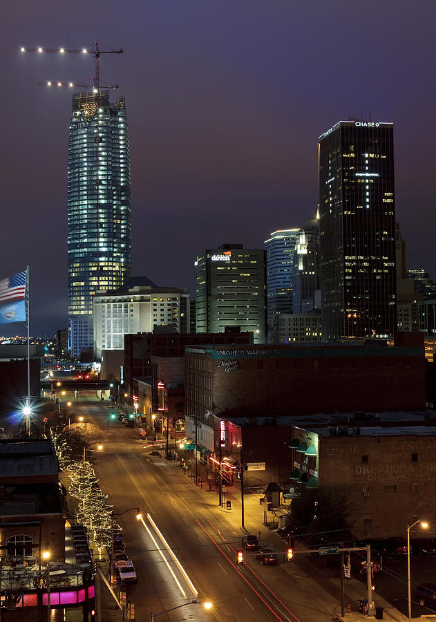 Oklahoma Photograph - Okc Evening by Ricky Barnard