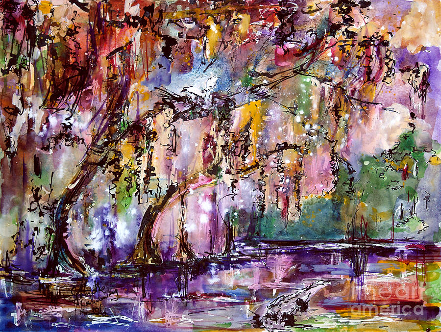 Okefenokee Painting - Okefenokee Mystic Magic by Ginette Callaway