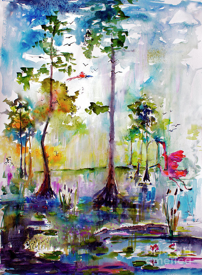 Okefenokee Painting - Okefenokee Wild Free And Peaceful by Ginette Callaway