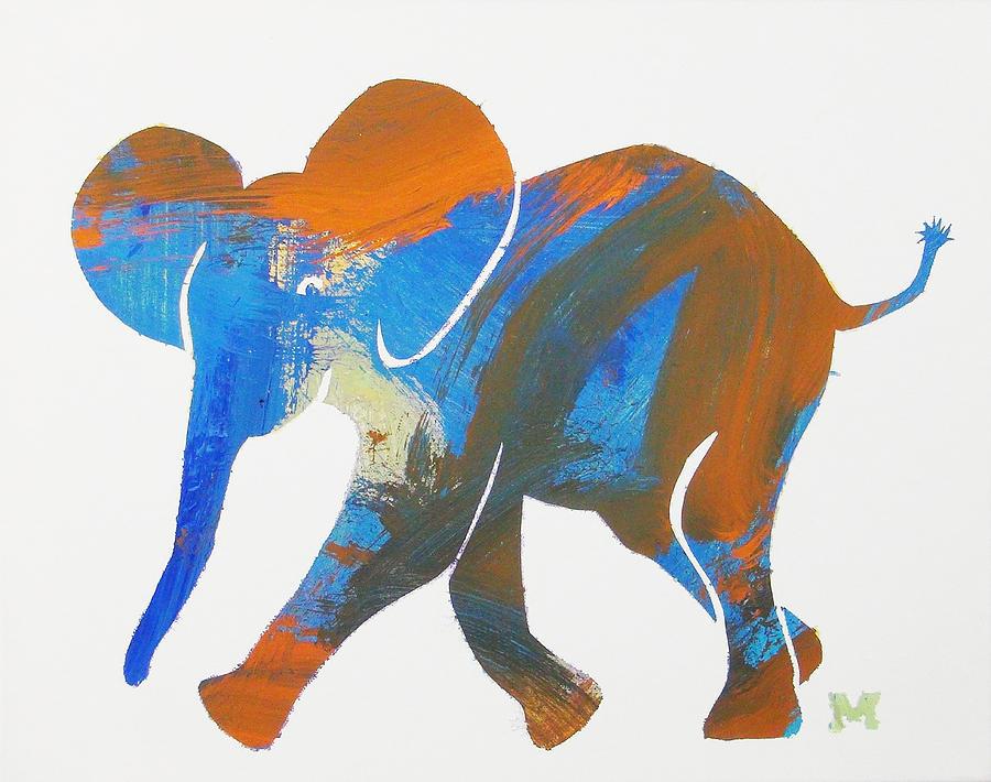 Elephant Painting - Okey Dokey by Candace Shrope
