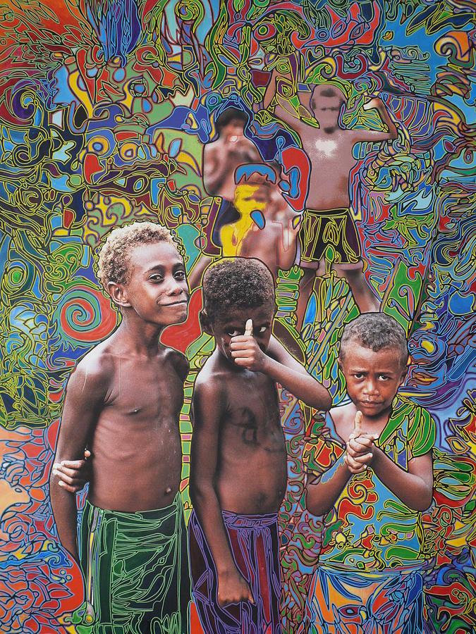 Vanuatu Painting - Ok.kids In Vanuatu by Igor Eugen Prokop