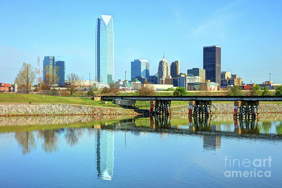 Oklahoma City Photograph - Oklahoma City Skyline by Denis Tangney Jr