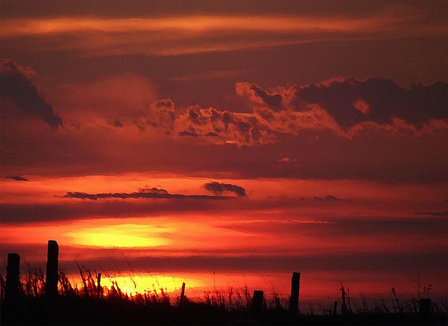Oklahoma Sky Digital Art - Oklahoma Sky At Daybreak  by Shelli Fitzpatrick