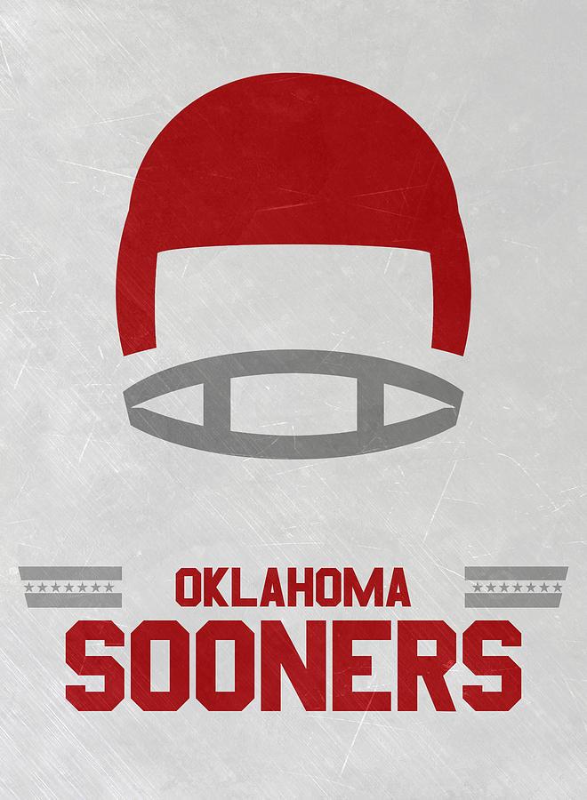 Sooners Mixed Media - Oklahoma Sooners Vintage Football Art by Joe Hamilton