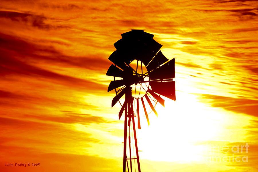 Sun Photograph - Oklahoma Sun by Larry Keahey