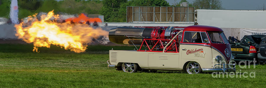 Jet Car Photograph - Oklahoma Willy by Steev Stamford
