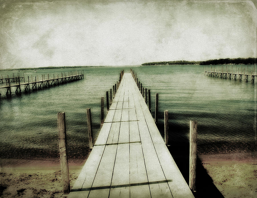 Lake Photograph - Okoboji Docks by Julie Hamilton
