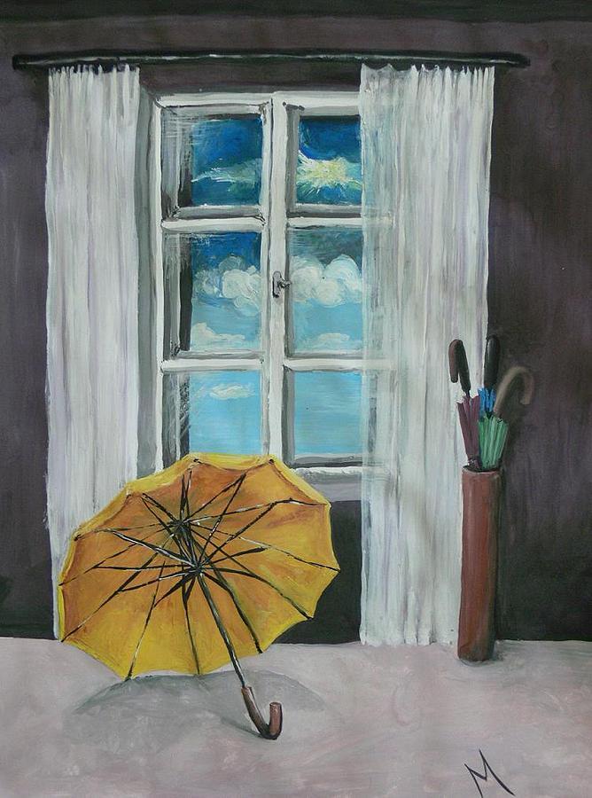 Umbrella Painting - Oktober by Melinda Molnar