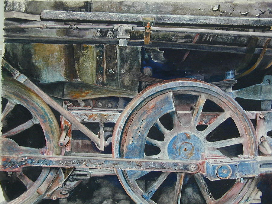 Railroad Engine Painting - Ol 97 by Dwight Williams