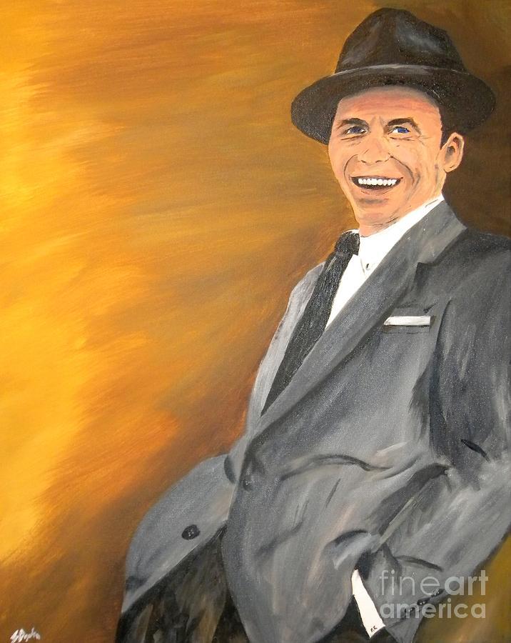 Frank Sinatra Painting - ol Blue Eyes by Steven Dopka