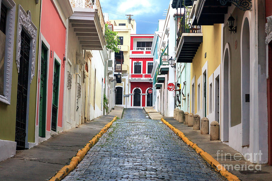 Alley Photograph - Old San Juan Alley by John Rizzuto