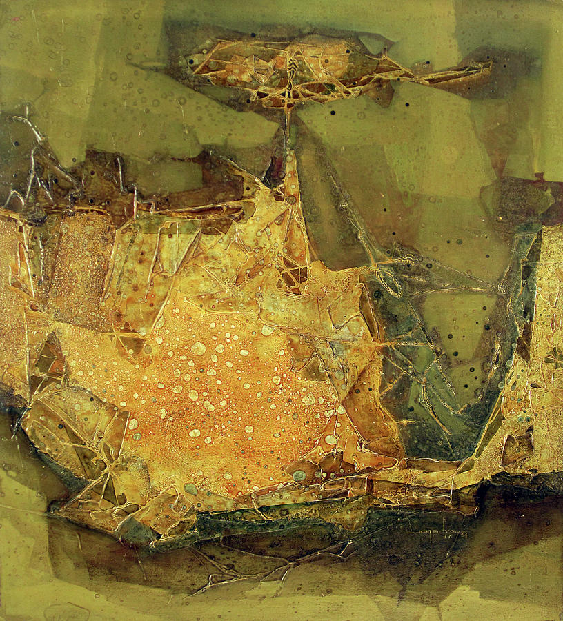 Abstract Painting - Ol1964ny005 New Dimention 36 X 39.6 by Alfredo Da Silva