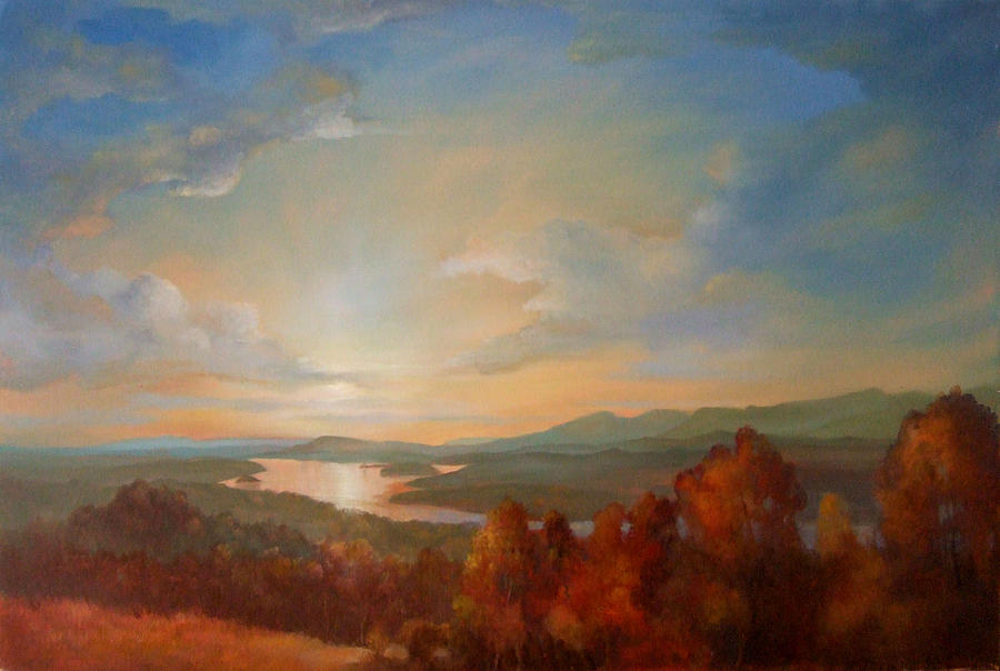 Hudson Valley Painting - Olana Rejoices by Kevin Palfreyman