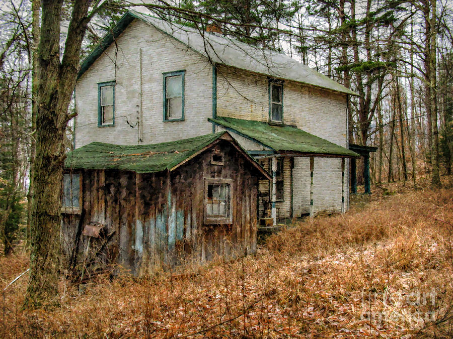 Old Abandoned And Forgotten Farmhouse Digital Art by Randy ...