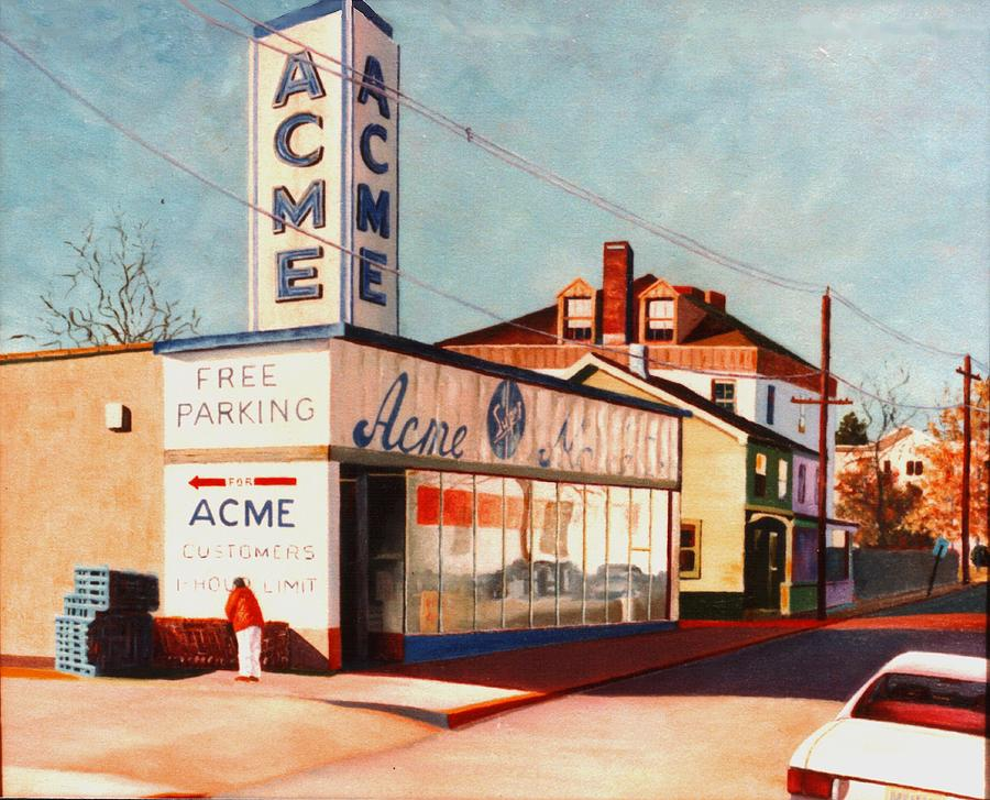Supermarket Painting - Old Acme Lambertville Nj by Robert Henne