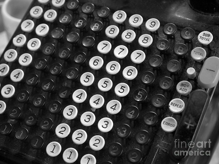The Photograph - Old Adding Machine by Arni Katz