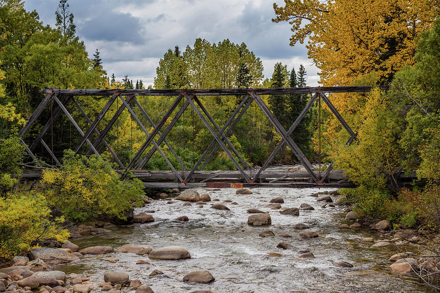 Old Alaskan Bridge in Autumn by Catherine Trevor-Roberts
