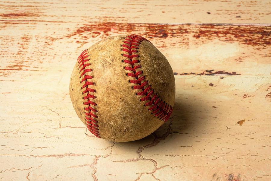 Baseballs Photograph - Old American Baseball by Garry Gay