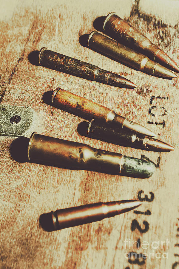 Army Photograph - Old Ammunition by Jorgo Photography - Wall Art Gallery