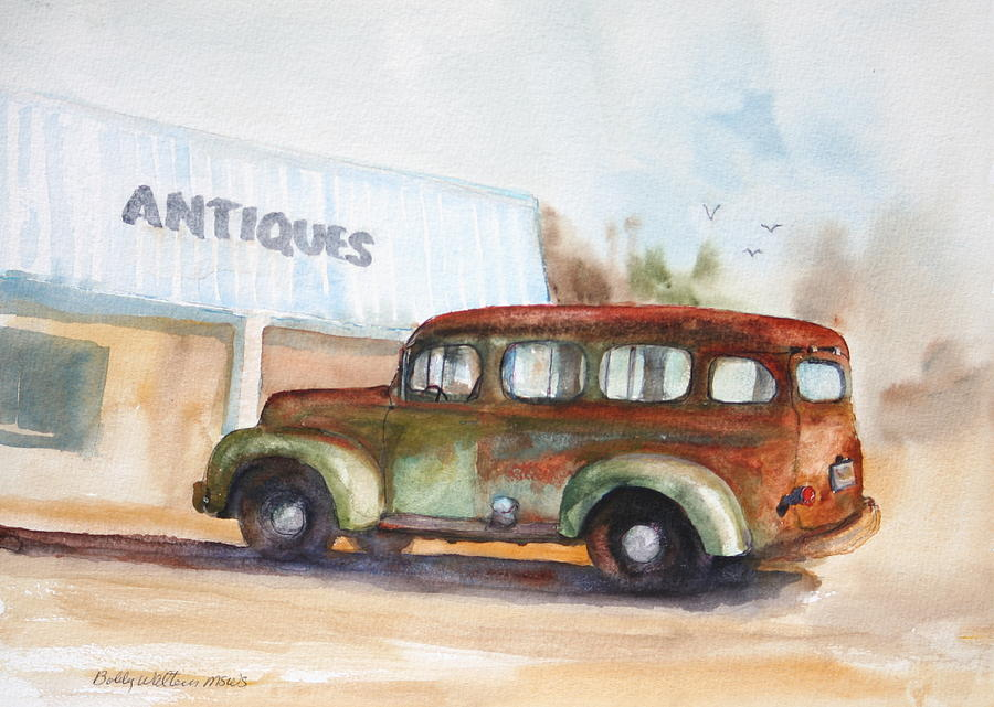 Old Truck Painting - Old And Rusty by Bobby Walters