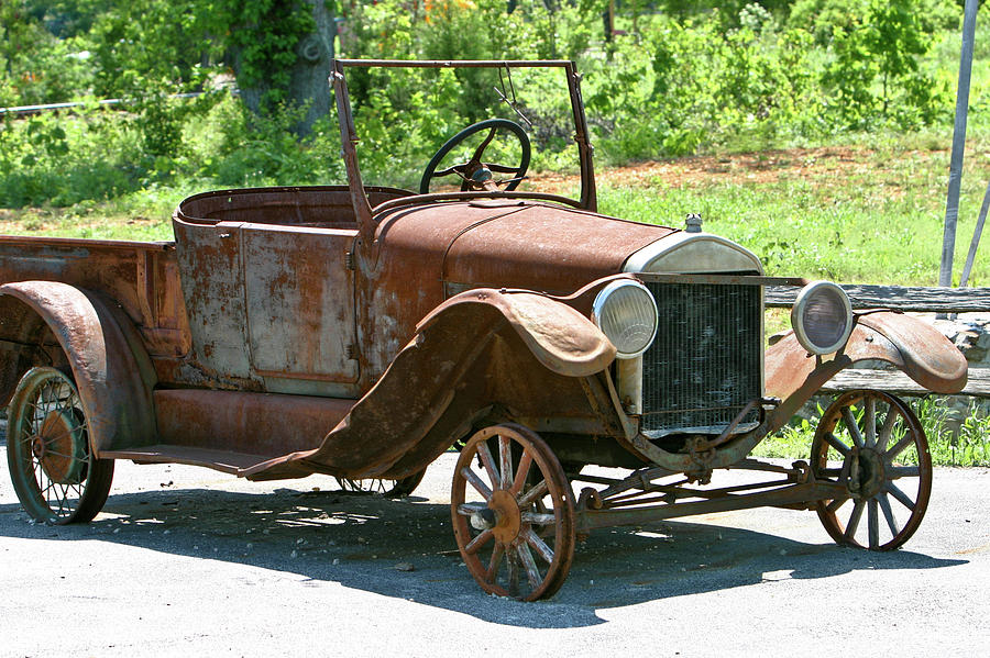 Old Photograph - Old Antique Vehicle by Douglas Barnett